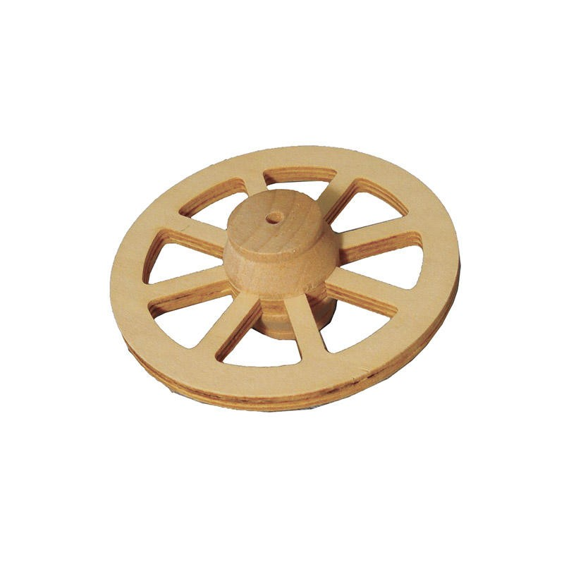 77mm Wooden Wagon Wheel
