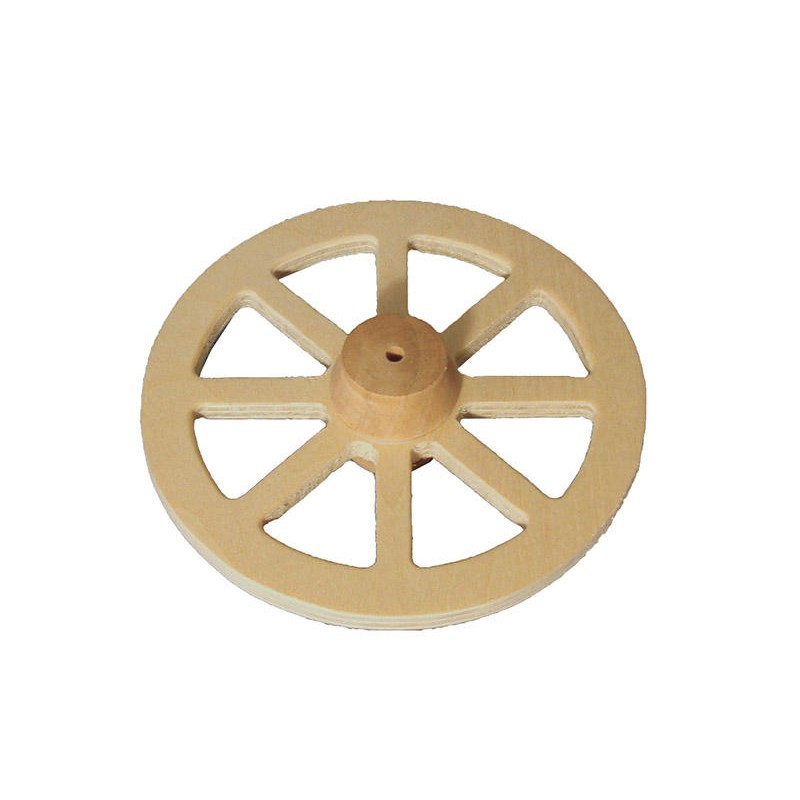 100mm Wooden Wagon Wheel