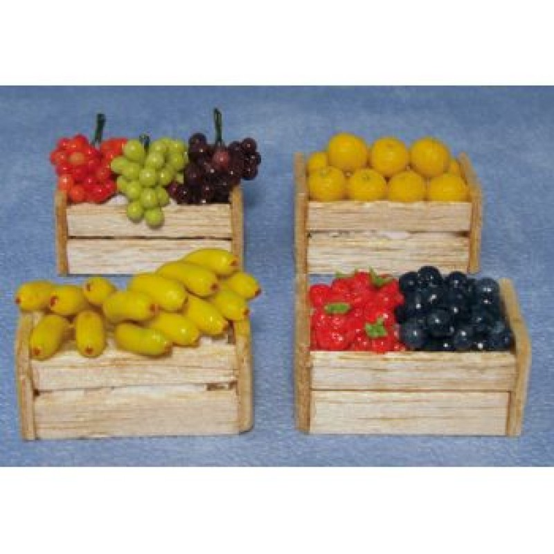 Assorted Fruits in a Crate, 4 pack