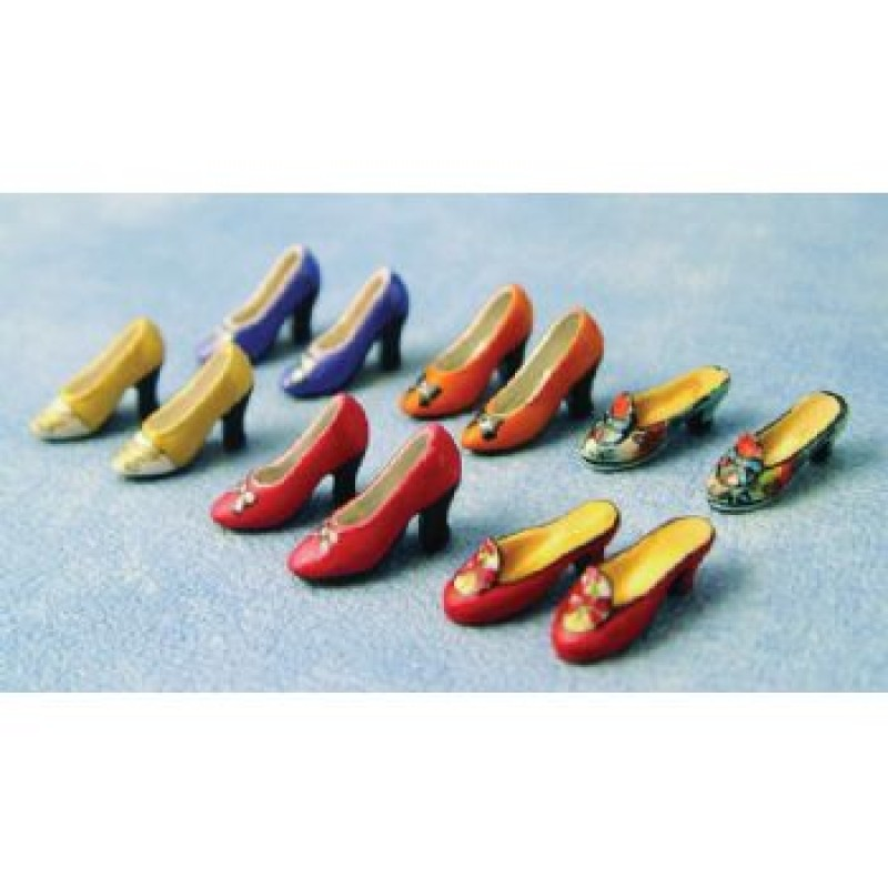 Ladies Court Shoes, 6 pack