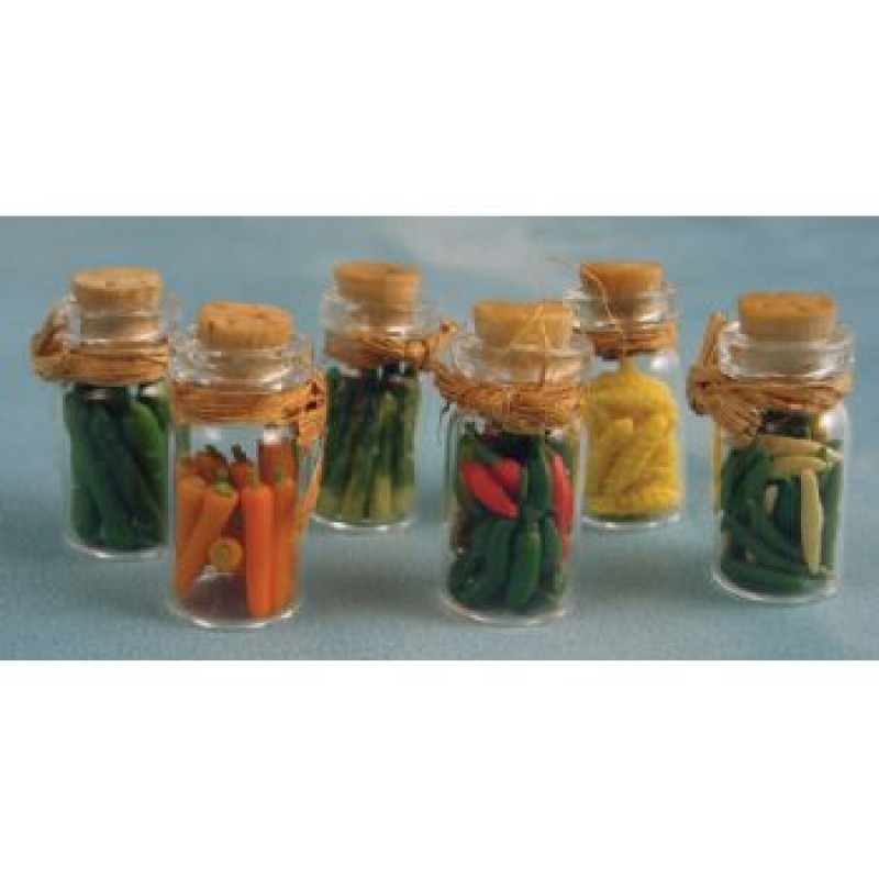 Assorted Pickles in Jars, 6 pack