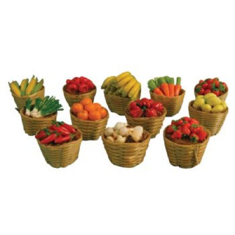 Fruit & Veg in Baskets, 12 pack