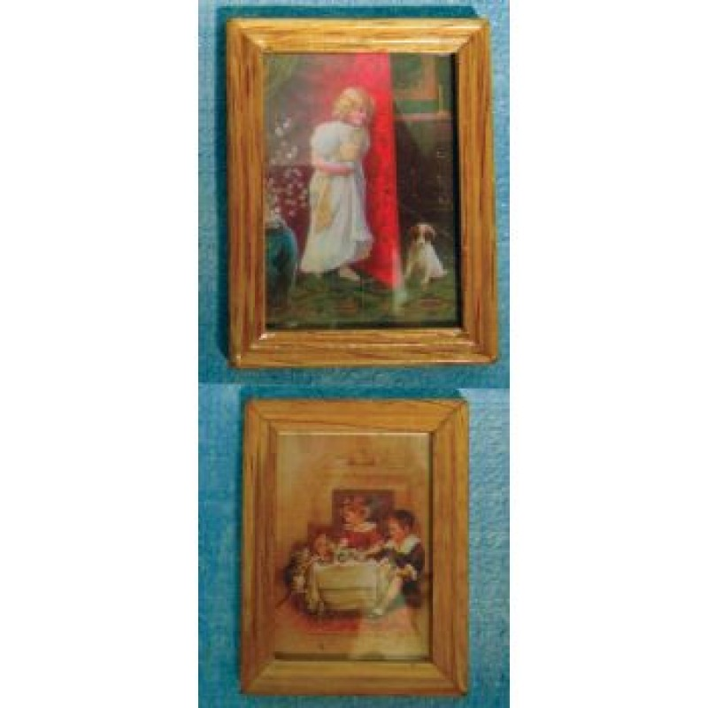 Wood Frame Child & Pet Pictures