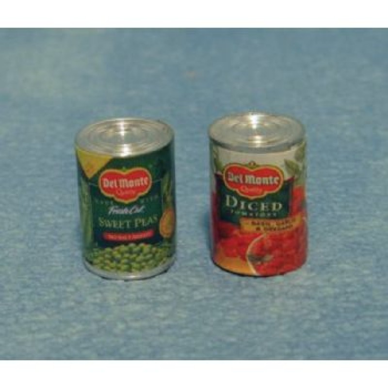 Vegetable Tins, 2 pieces
