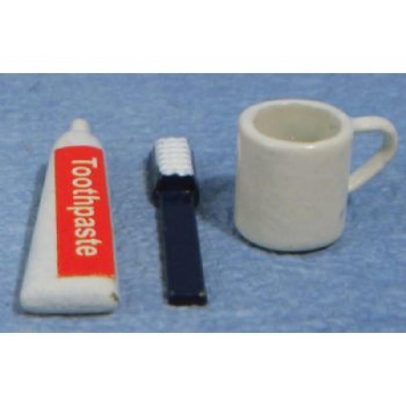 Toothbrush, Toothpaste and Mug