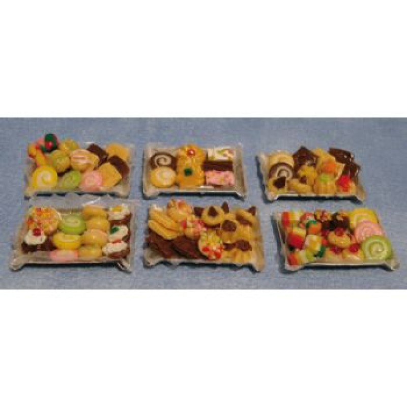 Assorted Cakes on Tray, 6 pack