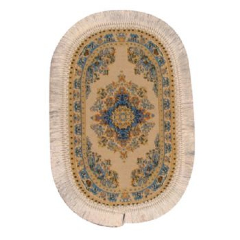 Oval Turkish Carpet Cream