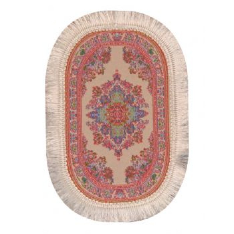 Oval Turkish Carpet Pink
