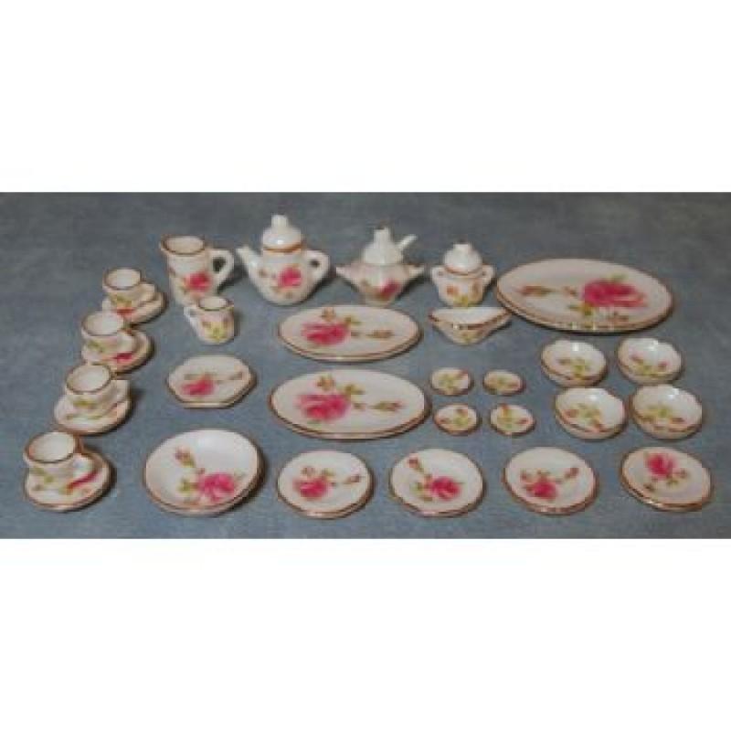 Pink Rose Tableware Set