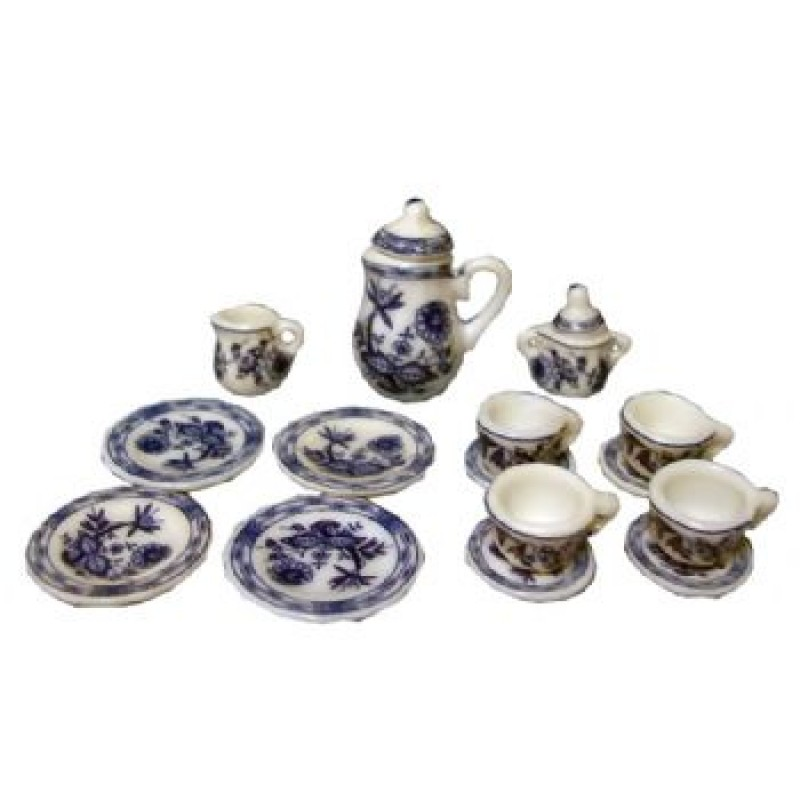 Blue Deluxe Tea/Coffee Set