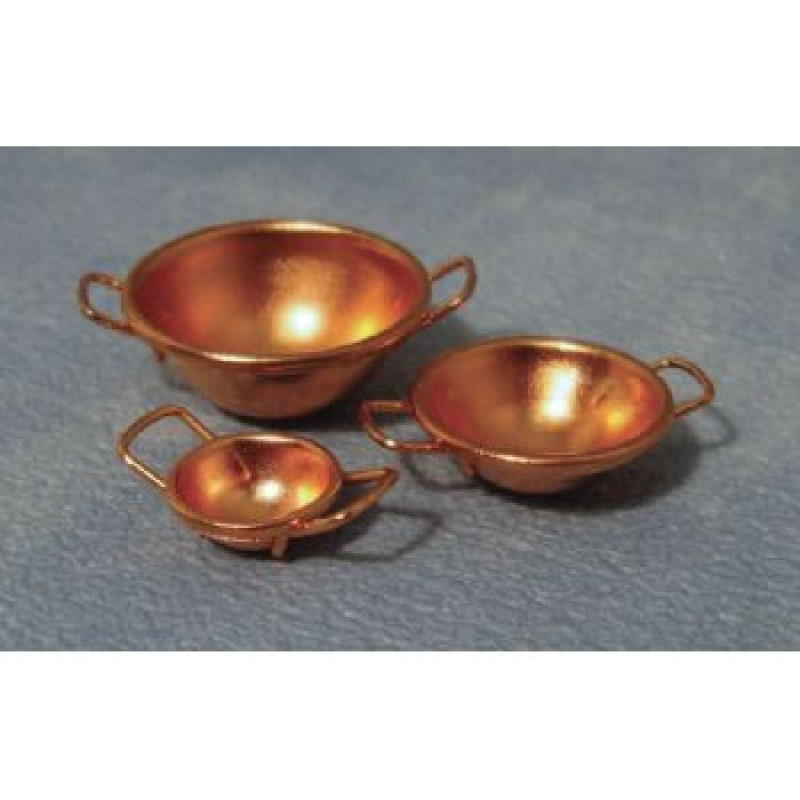 Copper Bowls, 3 pack