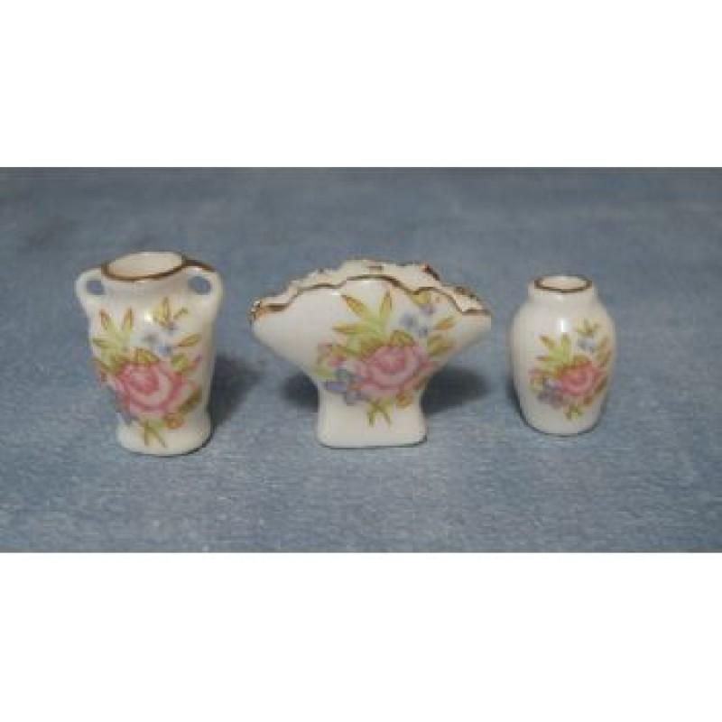 Floral Vases, 3 pack