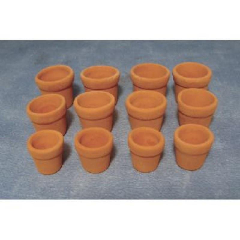 Terracotta Flower Pots, 12 pack
