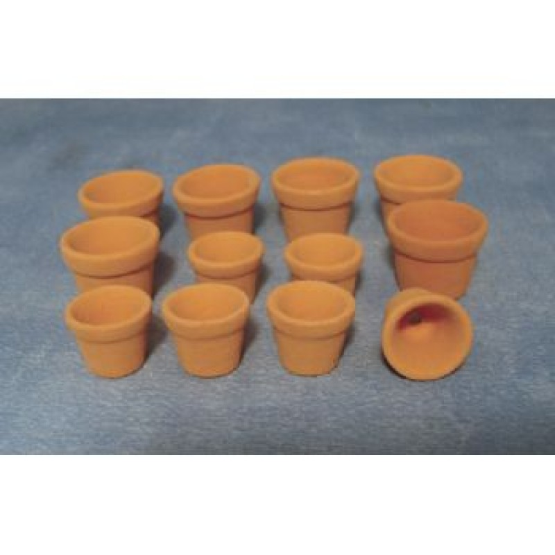 Assorted Terracotta Flower Pots, 12 pack