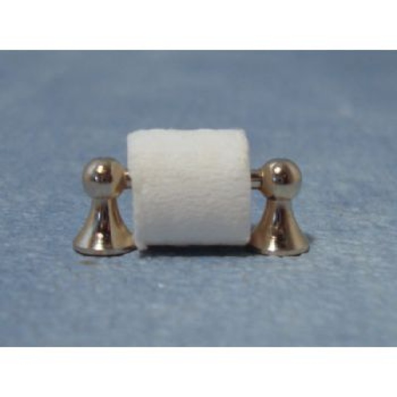 Silver Toilet Roll Holder