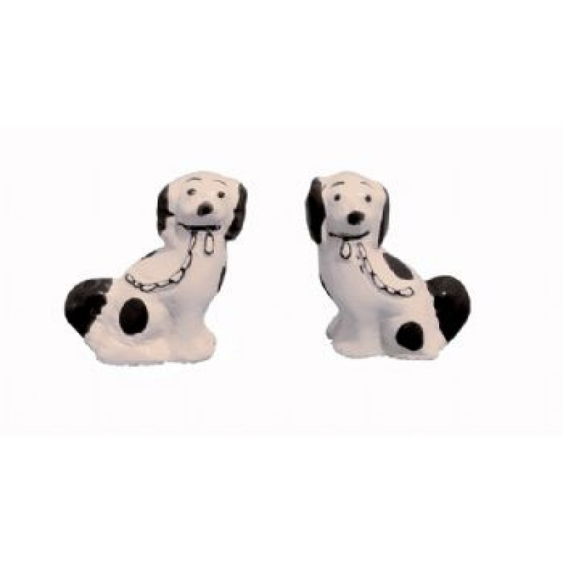 Black & White Staffs Dogs