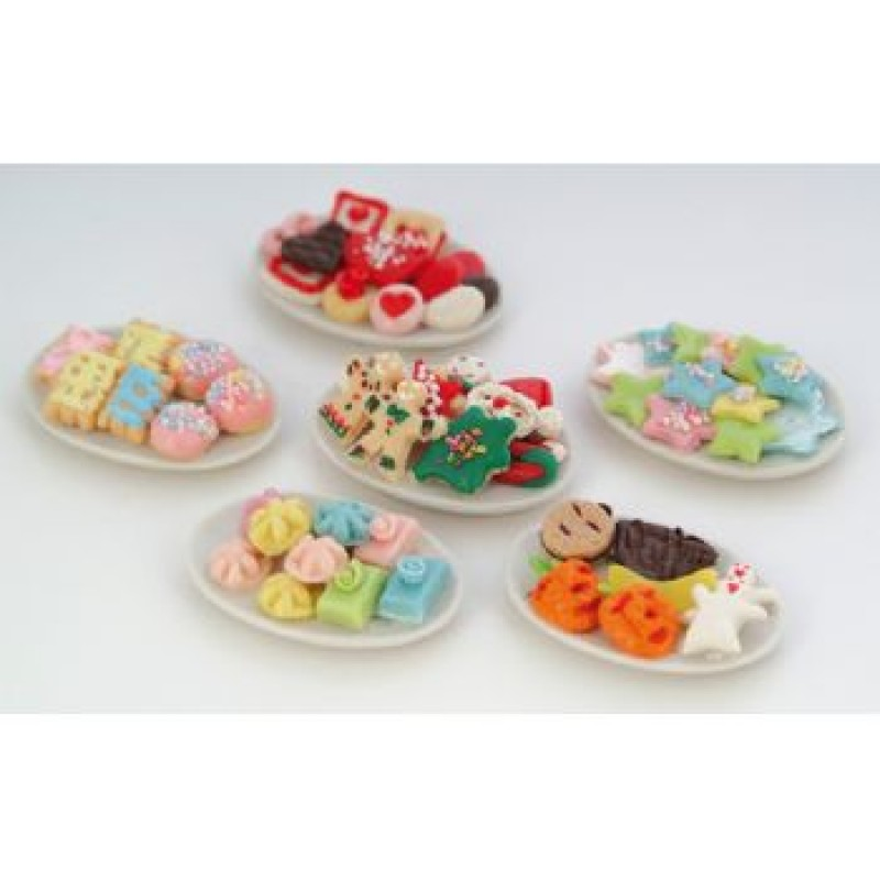 Assorted Biscuits on Plate, 6 pack