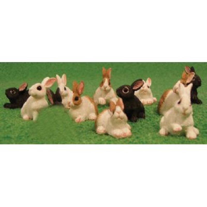 Assorted Rabbits, 12 pieces