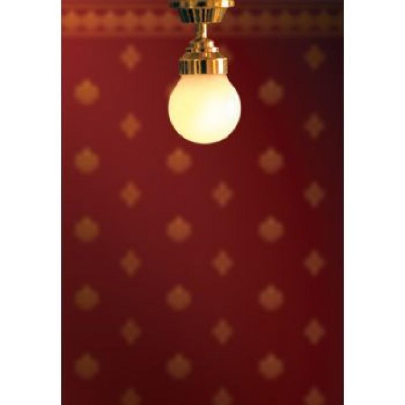 White Ceiling Globe Light