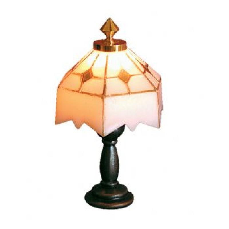 White Tiffany Table Light