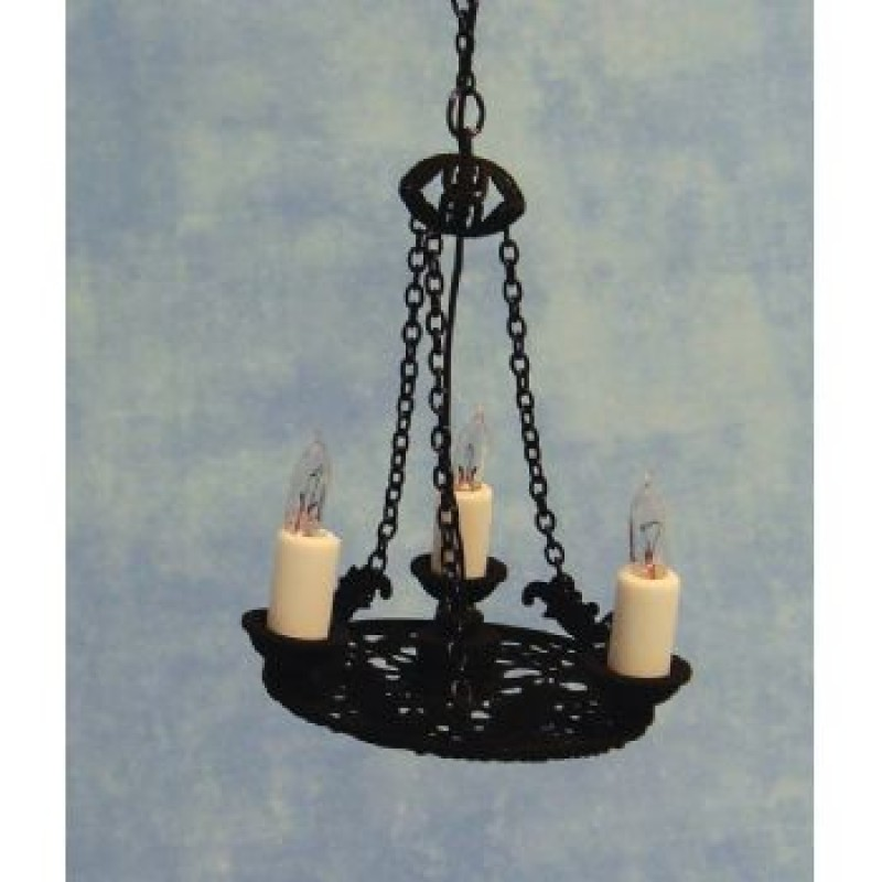 3 Candle Tudor Chandelier