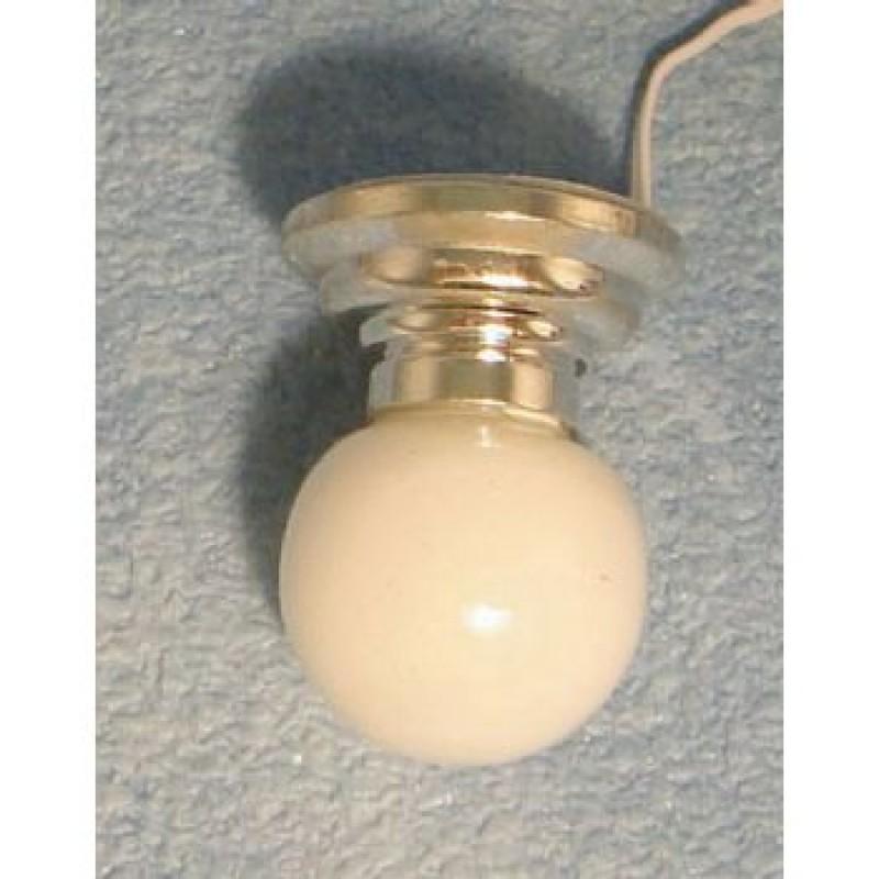 Silver Ceiling Globe Light