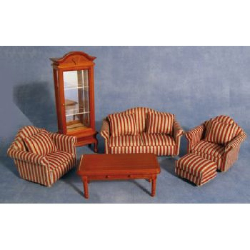 Striped Sofa Living Room Set