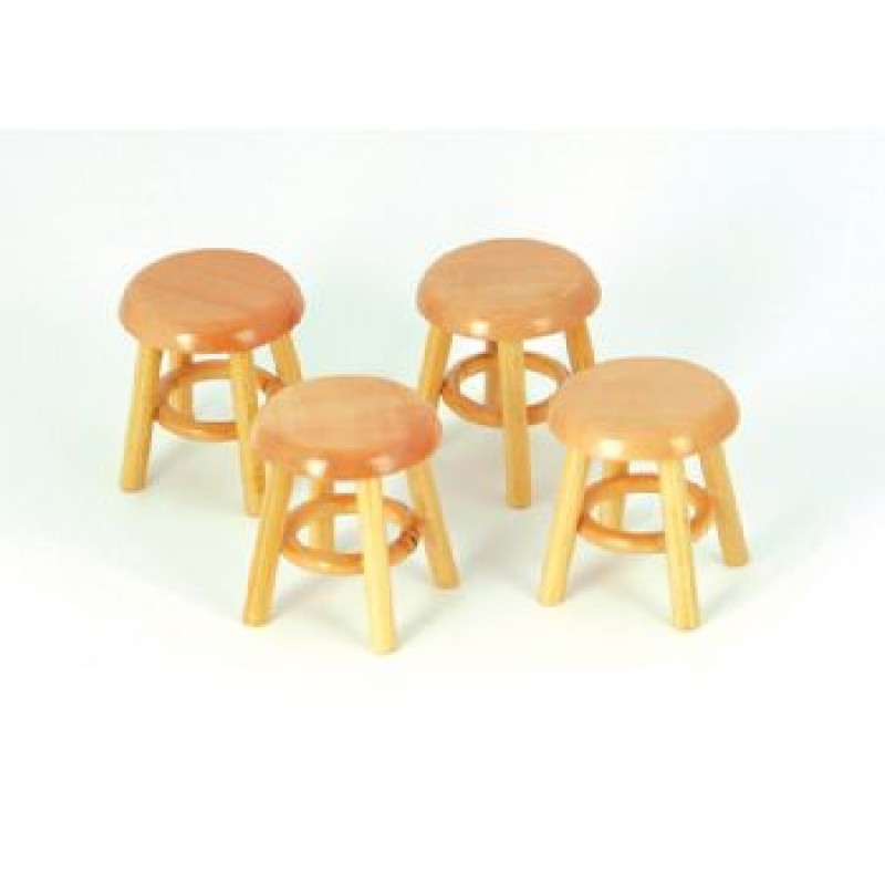 Pine Stools, 4 pieces