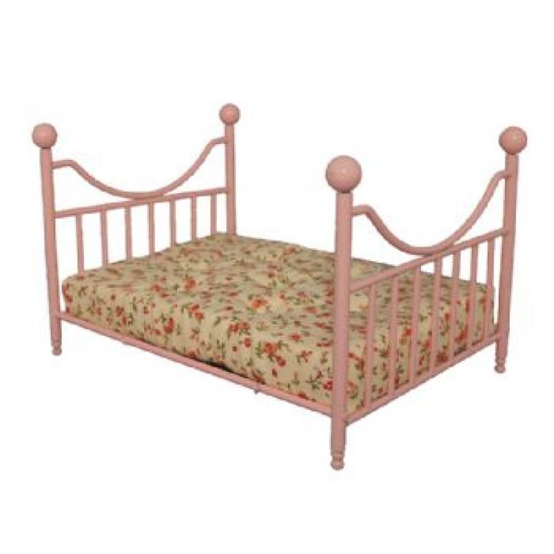 Pink Metal Bed