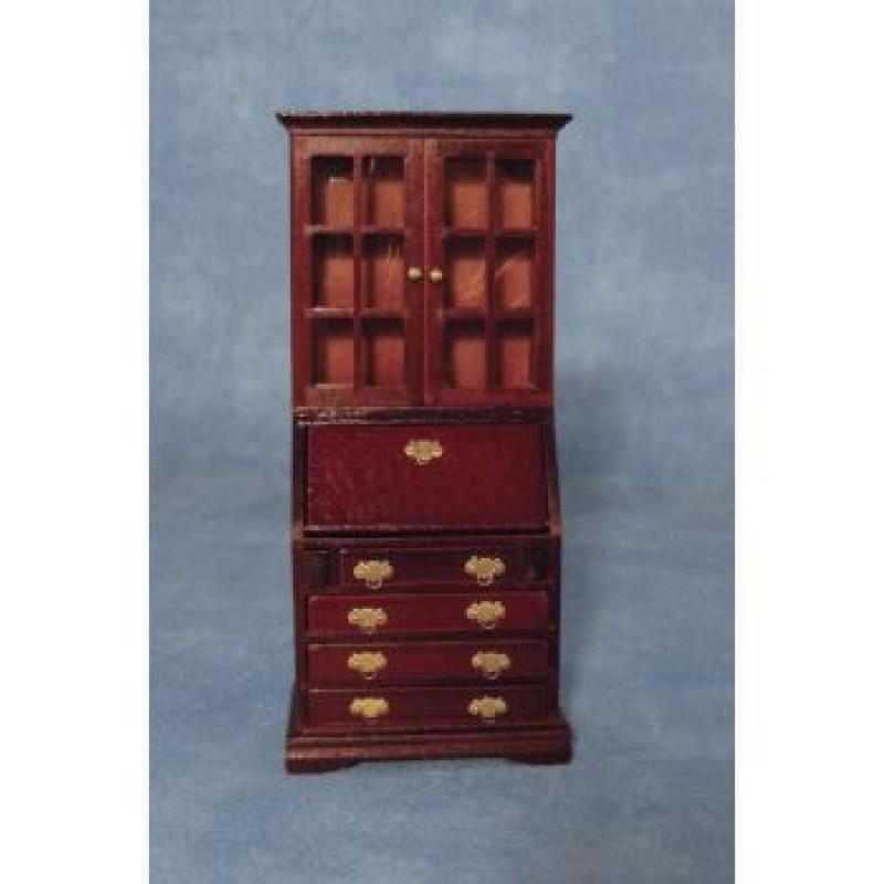 Mahogany Book Case Bureau