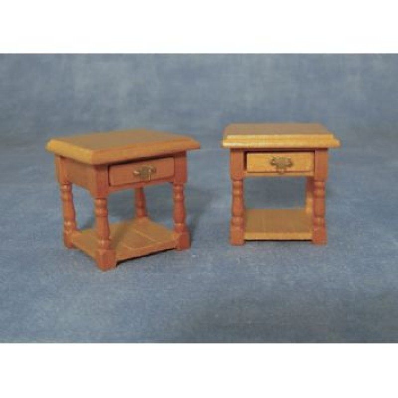 Bedside Table Pine, 2 pack