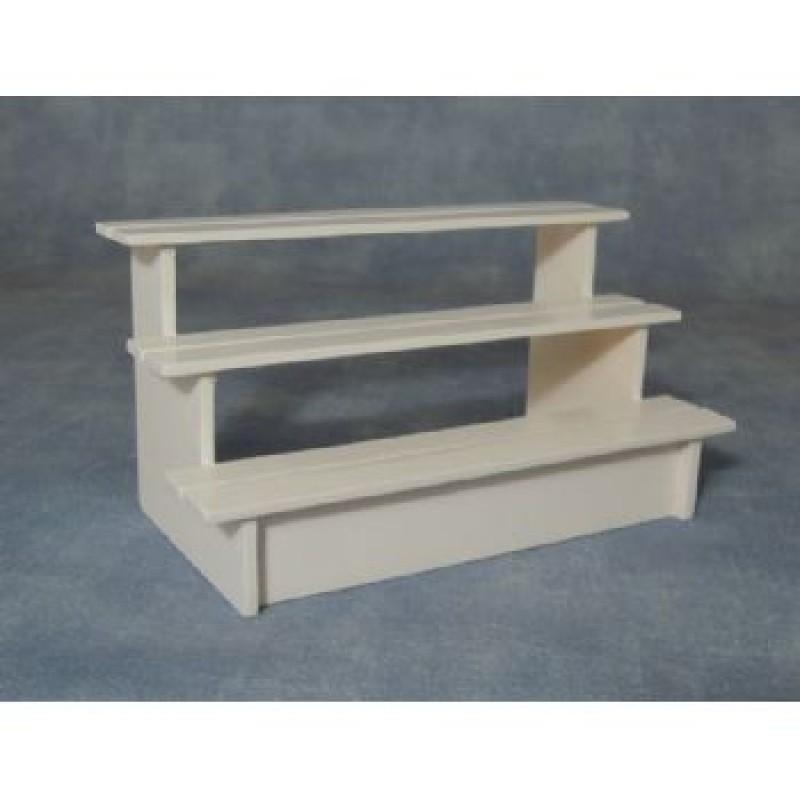 White Stall Shelves
