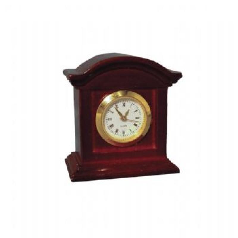 Mahogany Working Mantle Clock