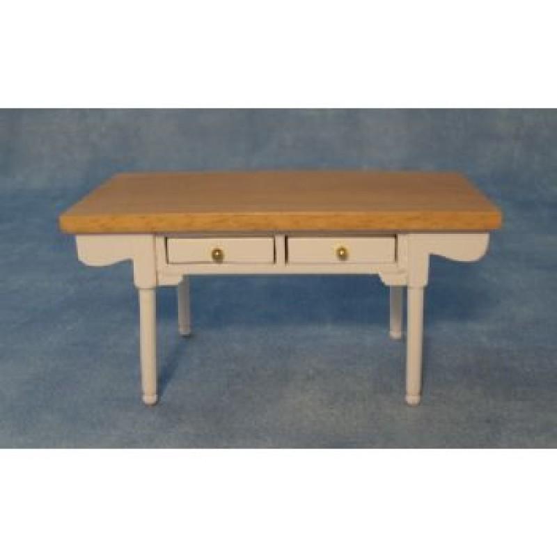 White & Pine Kitchen Table