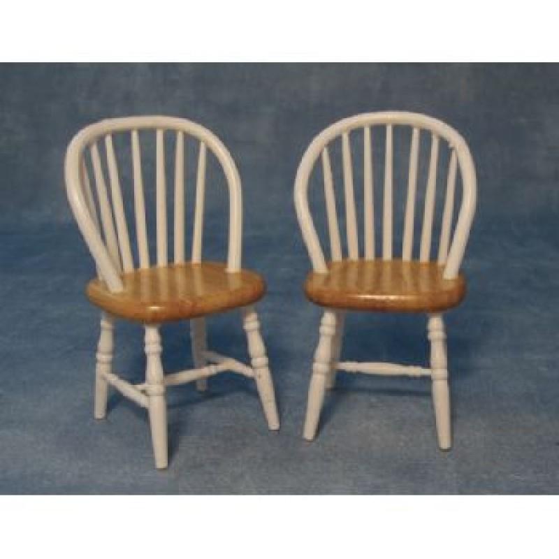 White & Pine Kitchen Chair, 2 pack