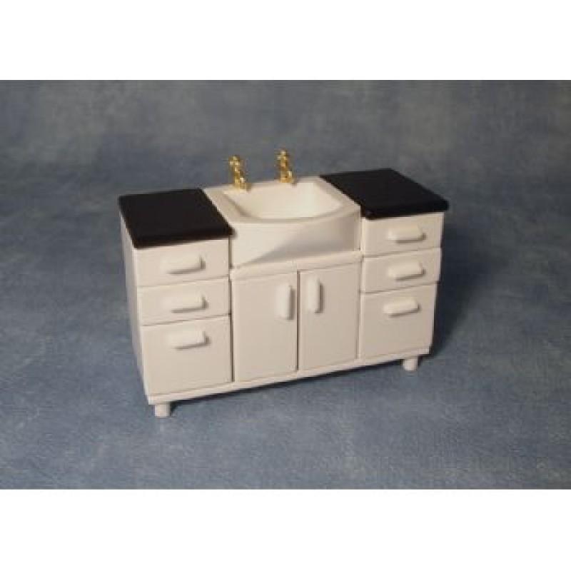 White Sink Unit