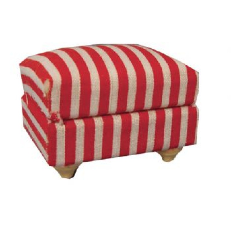 Striped Footstool