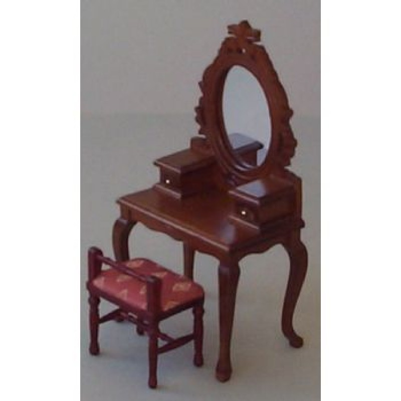 Mahogany Dressing Table and Chair