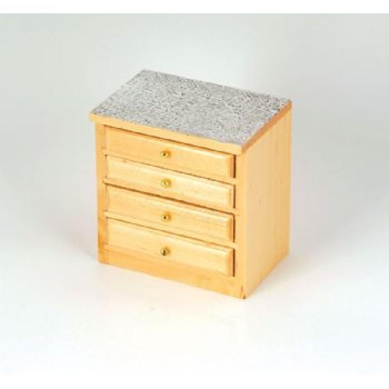 Pine Modern 4 Drawer Kitchen Unit