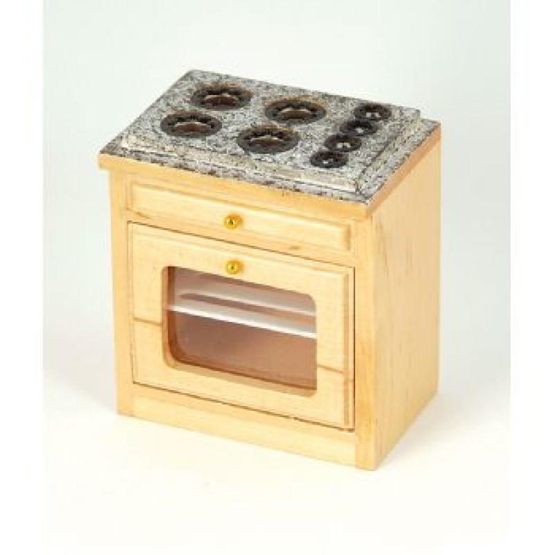 Pine Modern Kitchen Oven