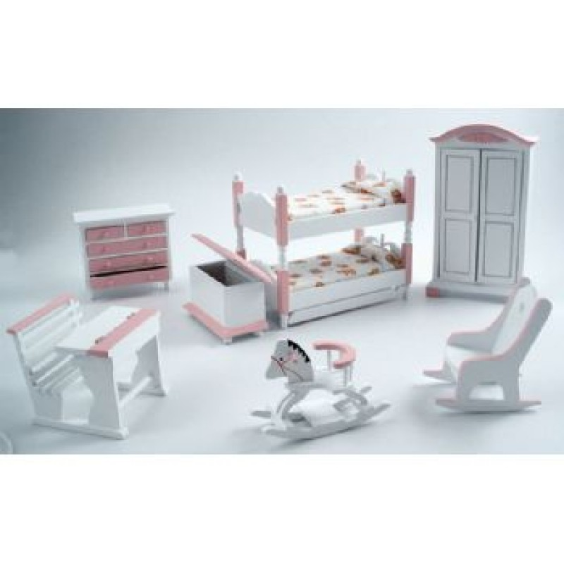 Deluxe Pink Bunk Nursery Set