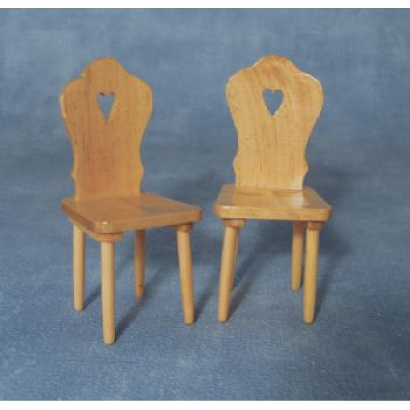 Pine Heart Chairs, 2 pieces