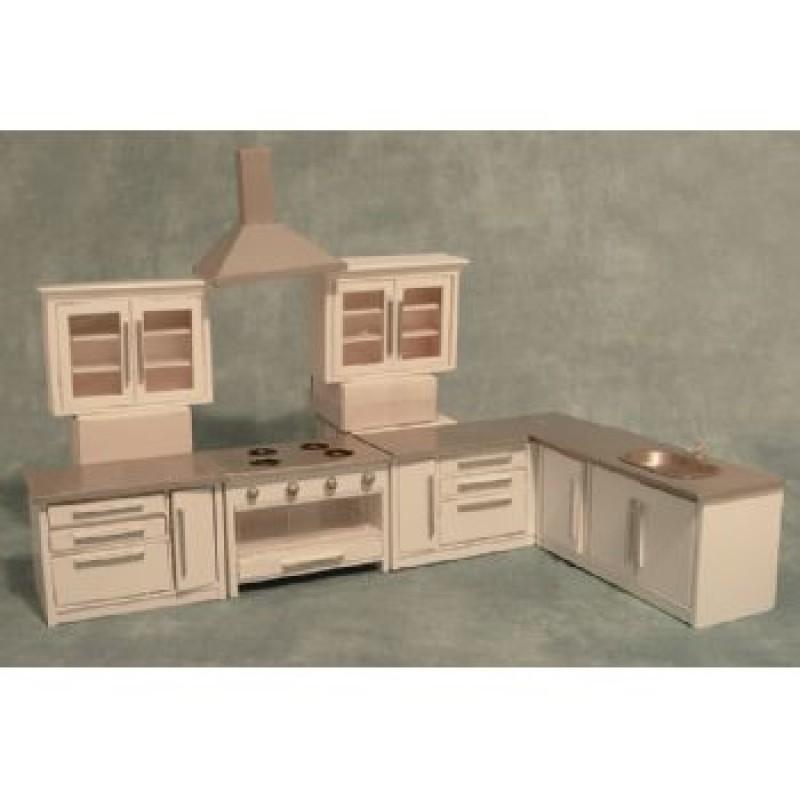 Modern White Kitchen Set