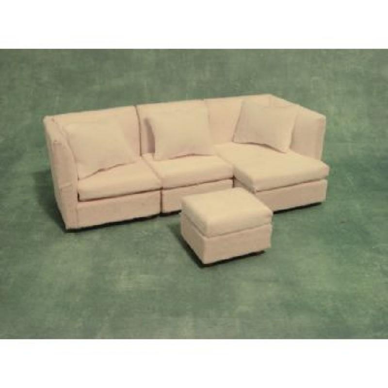 White Modern Corner Sofa