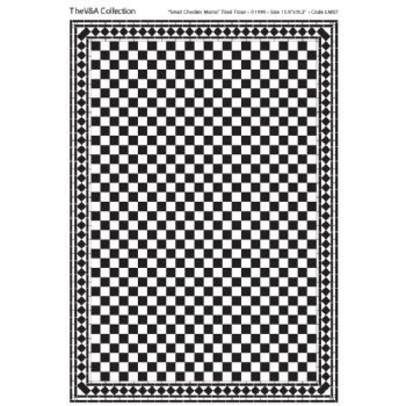 A3 Floor Tile Card Black & White