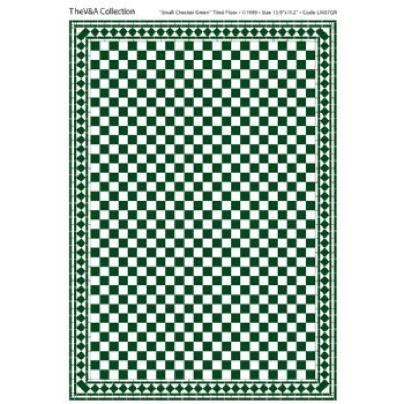 A3 Floor Tile Card Green & White