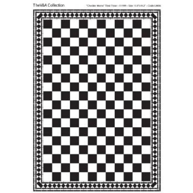 A3 Black & White Card Floor Tiles Checker