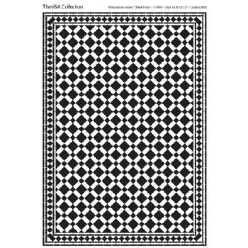 A3 Black & White Card Floor Tiles Emporium