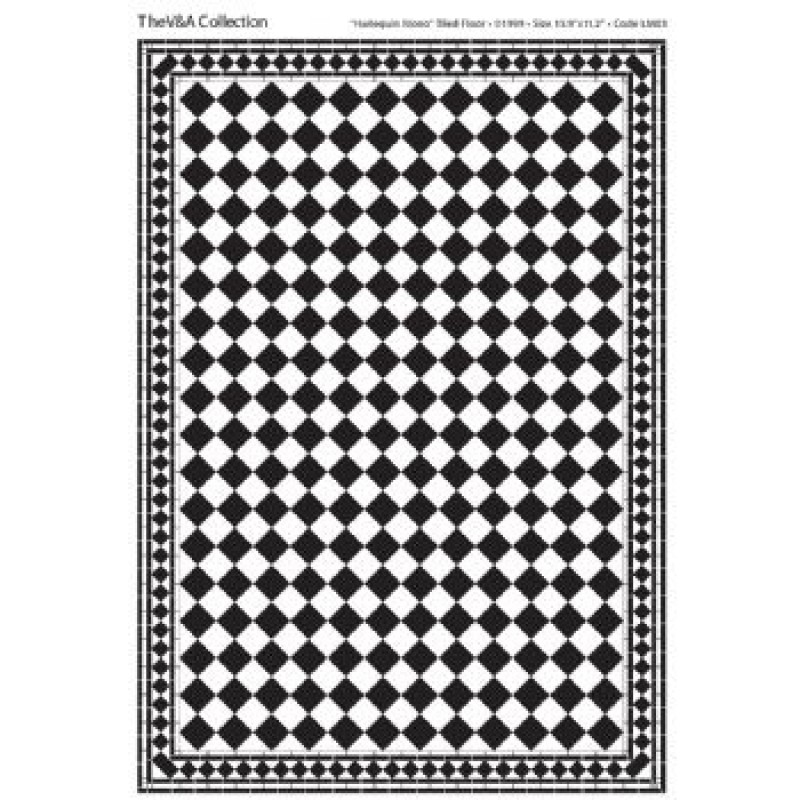 A3 Black & White Card Floor Tiles Harlequin