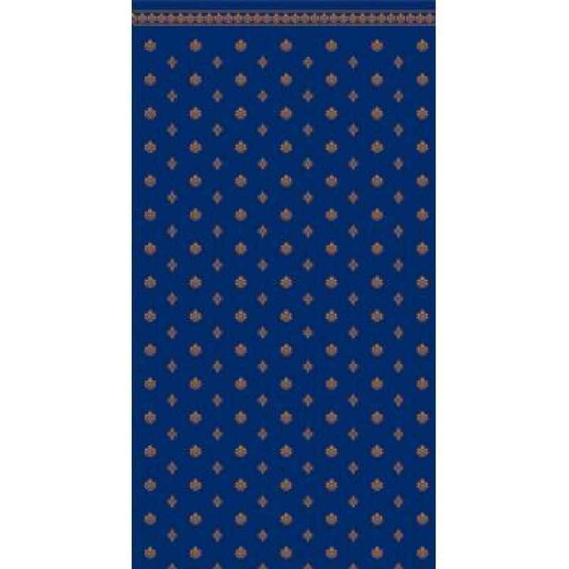A3 Fine Qual Garden Crest Blue & Ivory